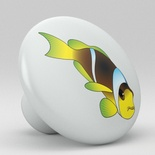 Tropical Fish Ceramic Knob Design 6