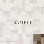 Sample Brown Beige Pattern Crackle Glass Blends Mosaic Tile