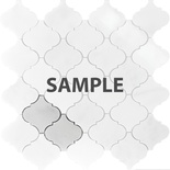 Sample White Marble Natural Stone Moroccan Pattern Mosaic Tile