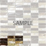 Sample Brown Crackle Glass Mother Of Pearl Sea Shell Natural Stone Mosaic