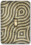 Gray Contemporary Pattern Metal Switch Plate Design 1